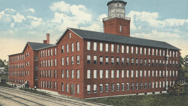 The H.W. Merriam Shoe Company, located on Sparta Avenue, as it appeared in the 1930s.