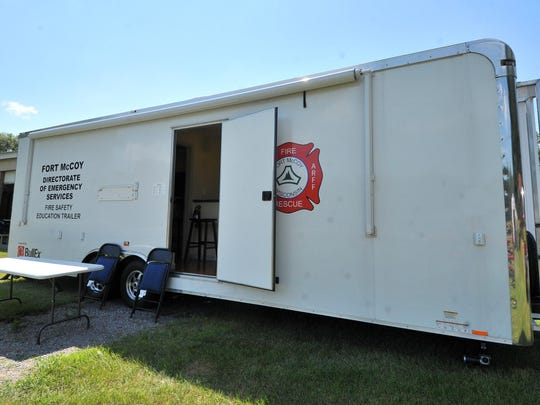 Fort McCoy brought a fire safety house to display Saturday