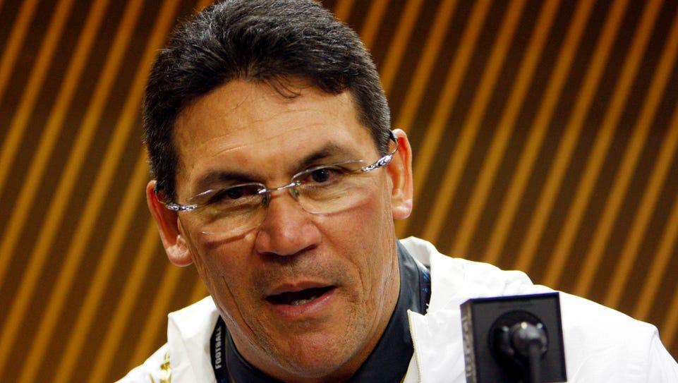 Carolina Panthers head coach Ron Rivera spent a month