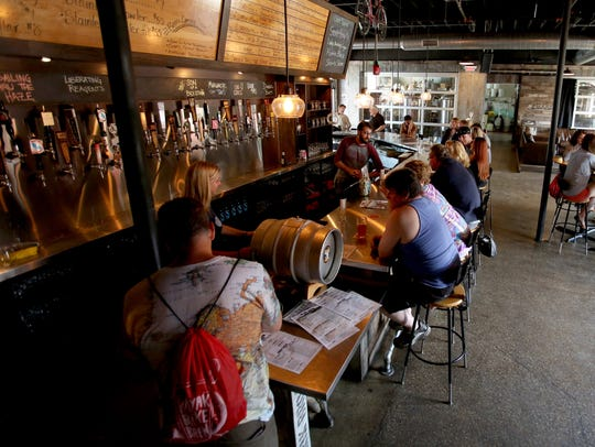 A Look At The Interior Of Rarebird Brewpub Which Was