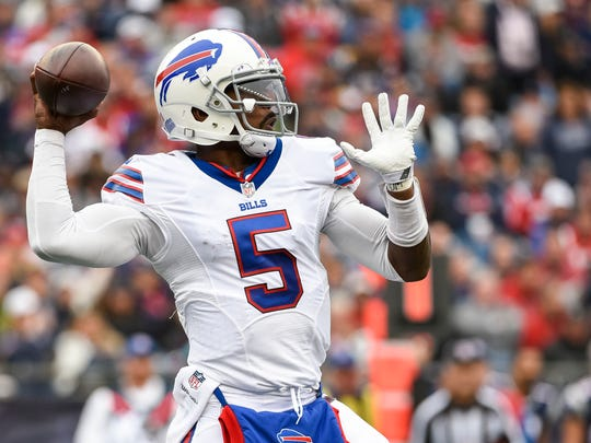 Tyrod Taylor threw for 289 yards in the loss to Seattle.