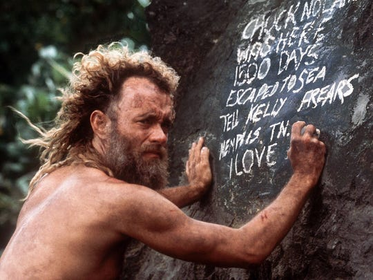 "In ""Cast Away,"" Tom Hanks plays a man who is isolated"