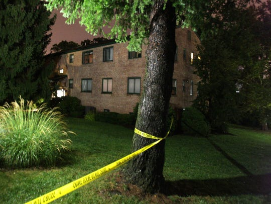 Crime scene tape on Sept. 22, 2013, surrounds the Paladin