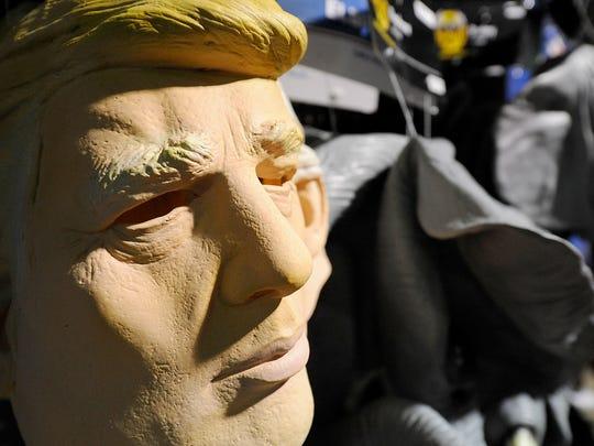 Politically themed Halloween costumes are seen at Spirit Halloween in Jackson, Tenn.,