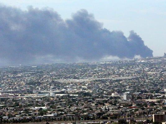 Juarez fire sends heavy plumes of smoke into El Paso