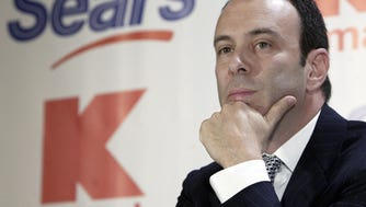 Sears CEO Edward Lampert during a news conference to announce the merger of Kmart and Sears back on Nov. 17, 2004.  (AP Photo/Gregory Bull)