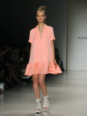 The Nanette Lepore Spring 2015 collection features the colors of the beach.