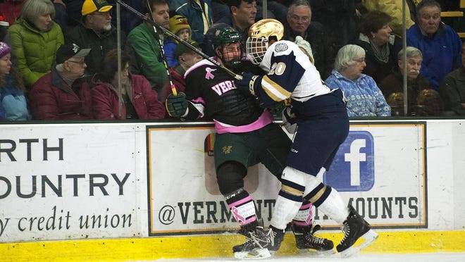 Notre Dame is no longer a member of Hockey East.