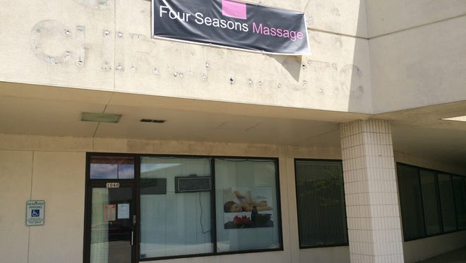 Four Seasons Massage, 1040 S. Koeller St., was closed Monday, May 18, 2015, after Oshkosh police arrested a 50-year-old woman on suspicion of prostitution Friday at the business.