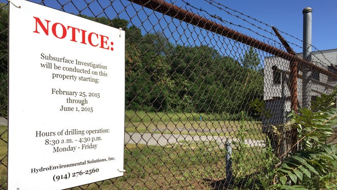 A portion of a former landfill at 109-125 Marbledale Road in Tuckahoe on Aug. 5. The lot is proposed for an environmental clean-up and redevelopment into a hotel and restaurant.