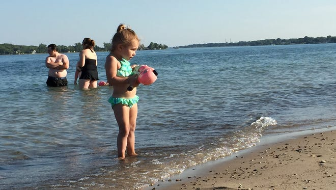 The state wants to remove the beach closing beneficial use impairment from the St. Clair River.