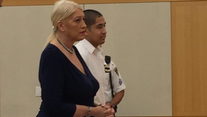 Efren Moreano appears in court Wednesday for sentencing with his attorney, Dawn Florio.