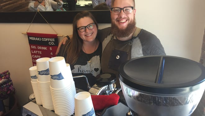 Holli and Ryan Baker own Meraki Coffee Co.