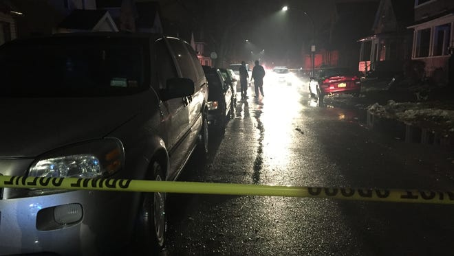 Rochester police on scene of a shooting on Hazelwood Terrace on Thursday evening.