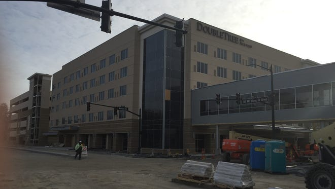 The Hilton DoubleTree is nearing its opening.