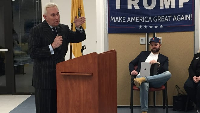 "On Wednesday, the Middlesex County Republican Women's Club gathered in Old Bridge to celebrate the election and inaguration of President Donald Trump. Author and political strategist Roger Stone, who spoke with the group during the 2016 campaign discussed his new book, ""The Making of the President 2016: How Donald Trump  Orchestrated a Revolution."""