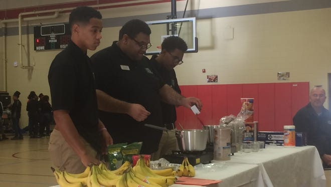Students learned different ways to make oatmeal and different fruits they can put in it to liven up the taste on Friday at Jackson Careers and Technology Elementary School.