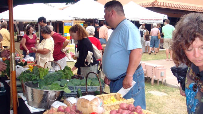 The Anthem Farmers Market in Anthem Community (upper) Park includes seasonal crops, grass-fed beef, pork and lamb.