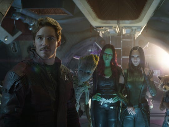 Chris Pratt and the stars of 'Guardians of the Galaxy'