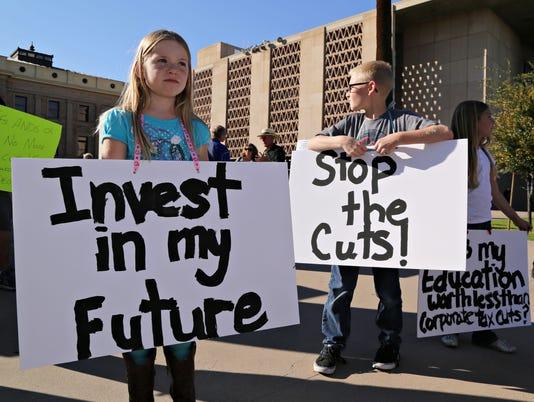 school funding rally