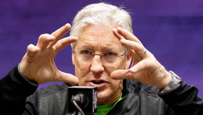 """When asked about the """"9/11 Truth"""" movement at media day, Seahawks coach Pete Caroll said, """"I will always be interested in the truth."""""""