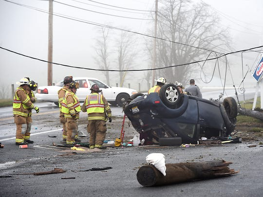 A single vehicle rollover accident at 500 Horseshoe Pike at 7:55 a.m. Sunday morning shut down Rt. 322 for an hour. Alexis Nolt, 18, of Lititz, was transported to Hershey Medical Center. Nolt, the only occupant, suffered moderate injuries.