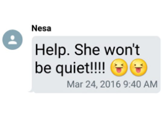 Test message from Nesa Johnson to parents