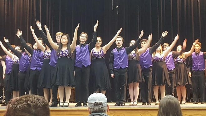 Two Rivers Show Choir competing in Solo Ensemble at Two Rivers High School March 10.