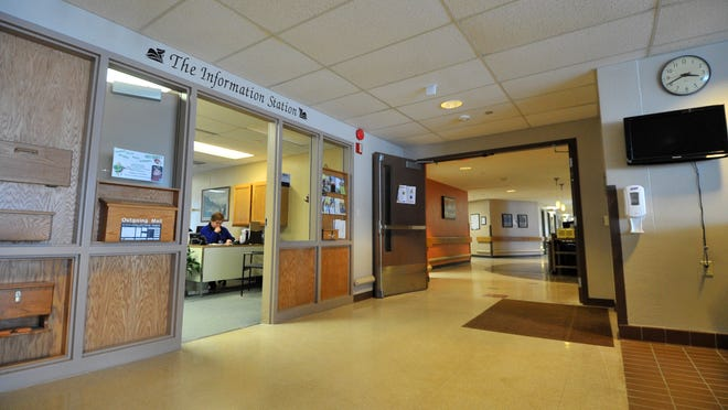 The Mount View Care Center reception area at the Wausau nursing home.