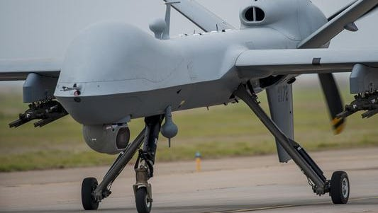 General Atomics builds both the MQ-1 Predator and the MQ-9 Reaper for the Air Force, both of which are heavily used in the Middle East for intelligence flights and strikes against the Islamic State.