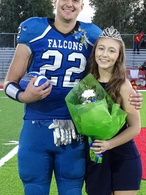 West Franklin High School seniors Cameron Wise and Paige Smith were selected homecoming king and queen Friday night before the football game.