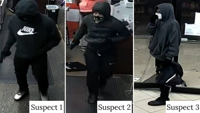 Austin police on Monday said authorities are looking for three men who robbed a convenience store in North Austin last week.