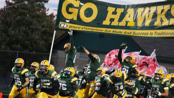 The Hawks were on a roll Friday night in their 40-0 win over crosstown rival Farmington.