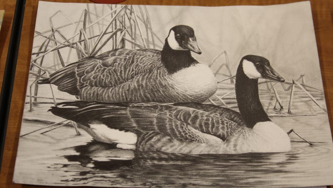 "Rene Christensen's artwork, titled ""Commitment,"" was selected as Best of Show for the Wisconsin Junior Duck Stamp Art Contest."