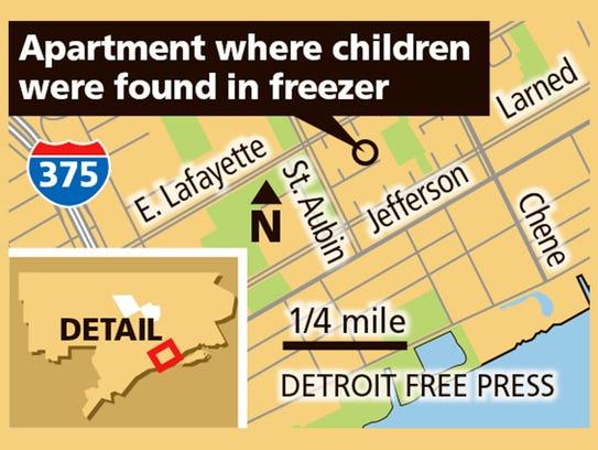 Apartment where children were found in freezer.