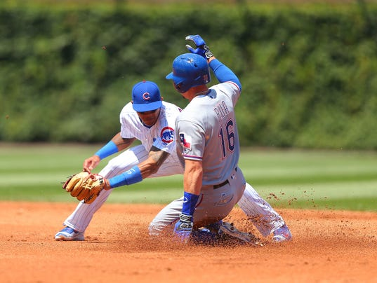 USP MLB: TEXAS RANGERS AT CHICAGO CUBS S BBO USA IL