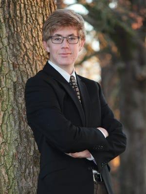 Woodburn Arts and Communications Academy Senior, Tanner Fackrell.