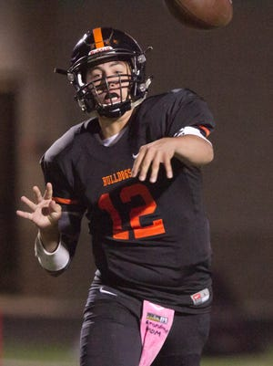 Quarterback Cameron Tullar and his Brighton teammates will host Novi in the first round of the state football playoffs at 7 p.m. Friday.
