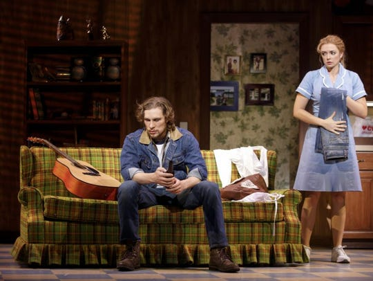 """Nick Bailey and Desi Oakley star in """"Waitress,"""" which"""