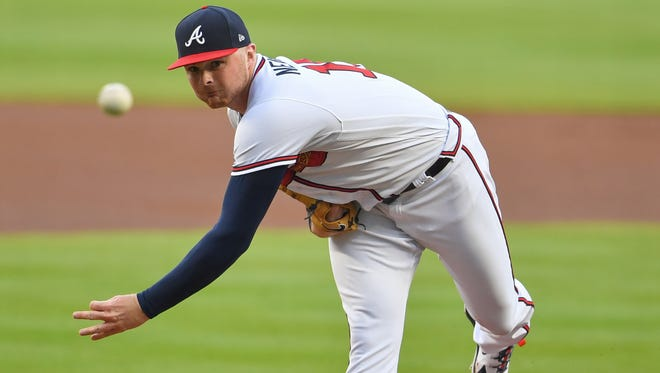 Braves left-hander Sean Newcomb began his current scoreless streak by blanking the Mets for seven innings on May 2.