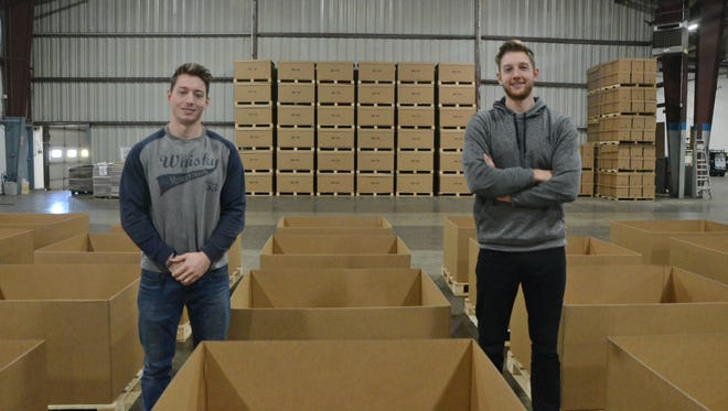 Brothers Mac McIlvaine, 26, and Graham McIlvaine, 24, run One Earth Co. located at 5701 W. Dickman Road in Battle Creek.