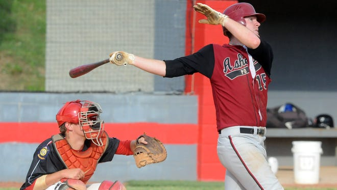 North Buncombe alum Alex Destino, right, was part of last year's Asheville American Legion Post 70 baseball team.