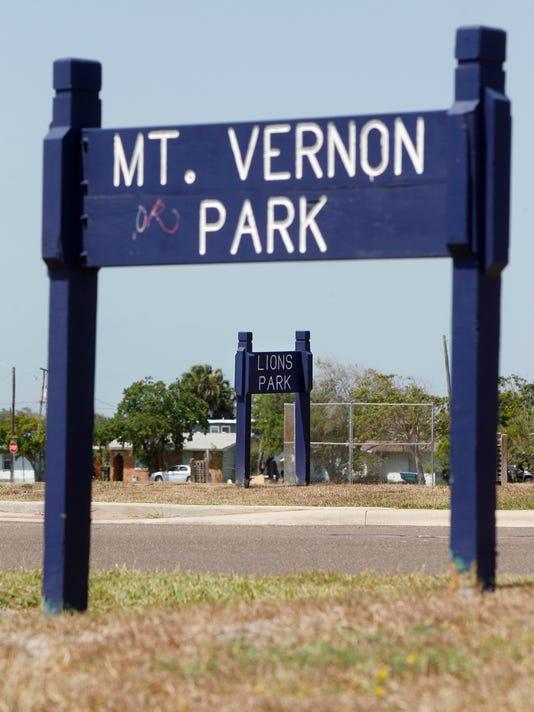 Mt Vernon Park sign