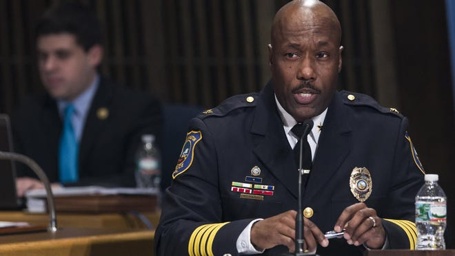 Wilmington Police Chief Bobby Cummings spoke about the proposed police department restructuring at a meeting Monday.