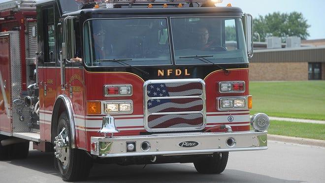 North Fond du Lac fire engine.