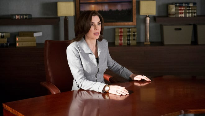 """""""Hitting the Fan""""--Alicia (Julianna Margulies) and Cary√¢¬?¬?s plans to depart Lockhart/Gardner are suddenly exposed, leading to mass firings and a desperate battle between the two firms to retain clients, on THE GOOD WIFE, Sunday, Oct 27 (9:00-10:01 PM, ET/PT) on the CBS Television Network. Photo: David M. Russell √?¬©2013 CBS Broadcasting, Inc. All Rights Reserved"""