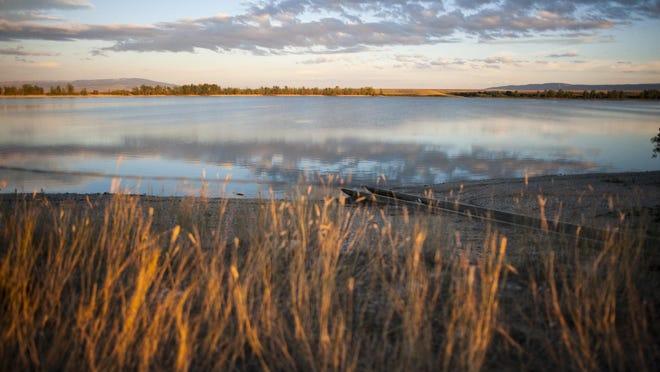 Ackley Lake State Park at sunset Thursday.