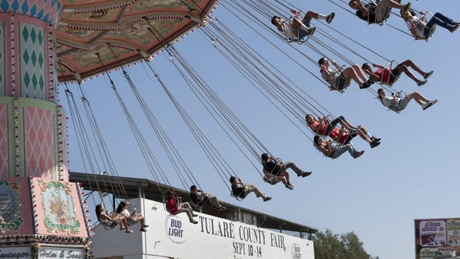 The Tulare County Fair midway was in full swing Wednesday September 10, 2014.
