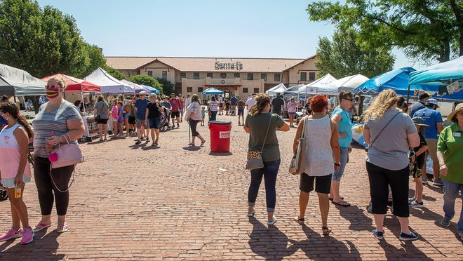 The first in-person Amarillo Community Market in months was hosted at the Santa Fe Depot Saturday in downtown Amarillo.