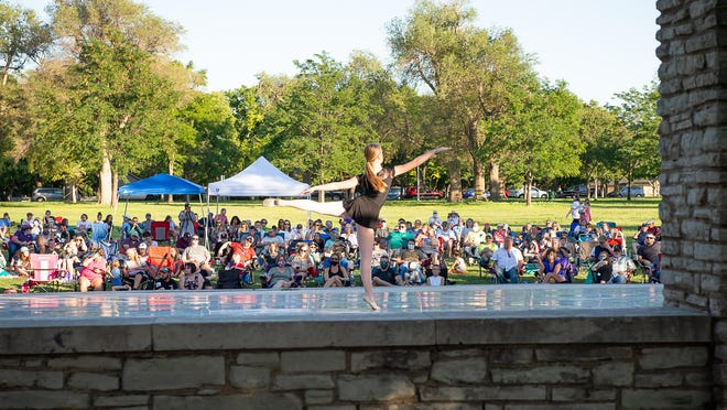 Lone Star Ballet students perform at Sam Houston Park Saturday evening during its outdoor performance, featuring a variety of dance styles, from Tap to Hip Hop and Ballet.